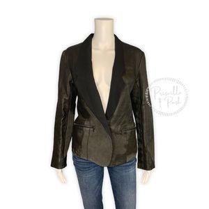 ALEXANDER WANG Black Distressed Leather Jacket 6